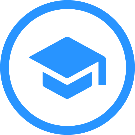 Icon with a graduation cap representing the At School Capabilities of Cognitopia