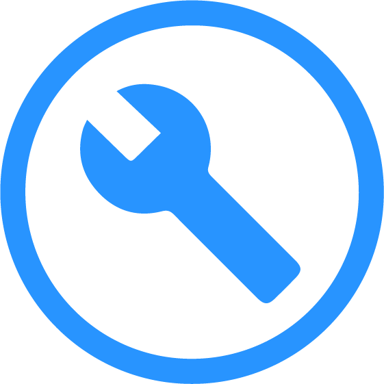Icon with a wrench representing the At Work Capabilities of Cognitopia
